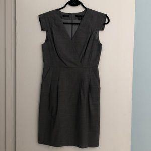 Heather Grey Wool Work Dress 4P
